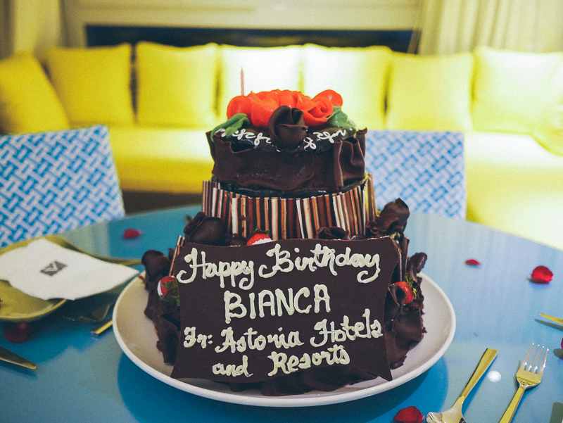 boracay astoria suite birthday cake