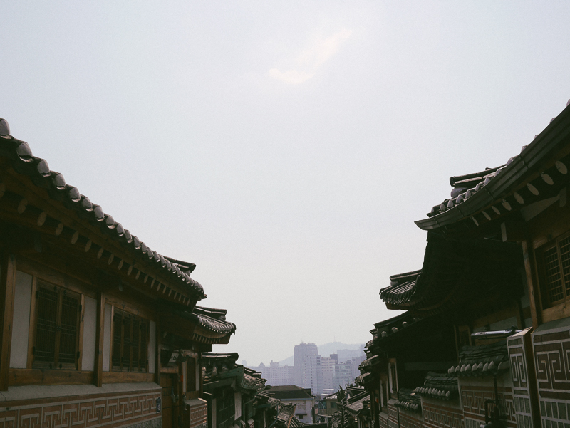bukchon and skyscrapers