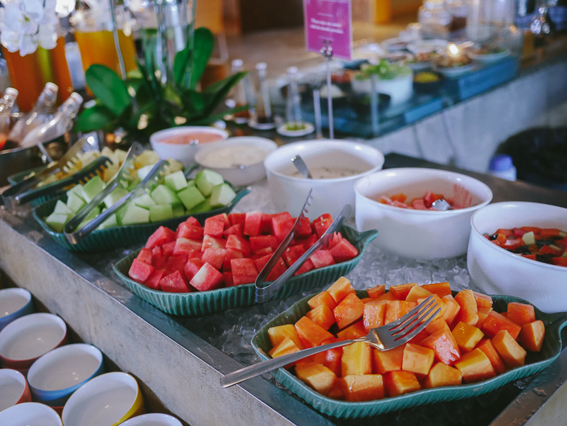 U Paasha breakfast buffet fruits