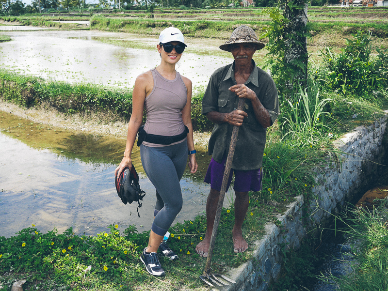 bike tour rice paddies